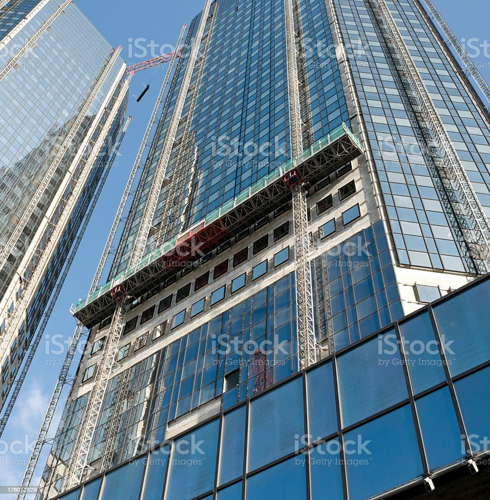 High-rise building construction site royalty-free stock photo