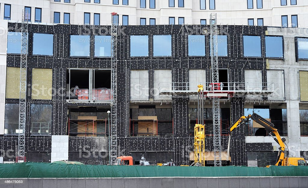 High-rise building under construction stock photo