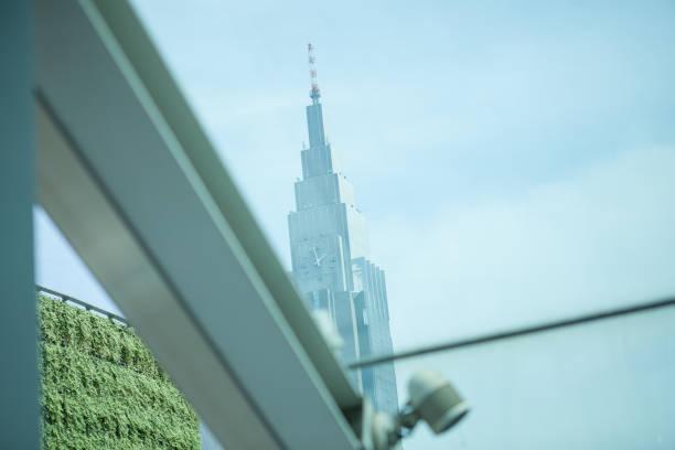 超高層ビルの時計。 ストックフォト