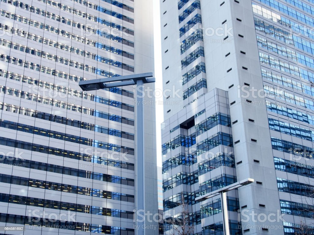 High-rise buildings and blue sky -  Tokyo, Japan royalty-free stock photo