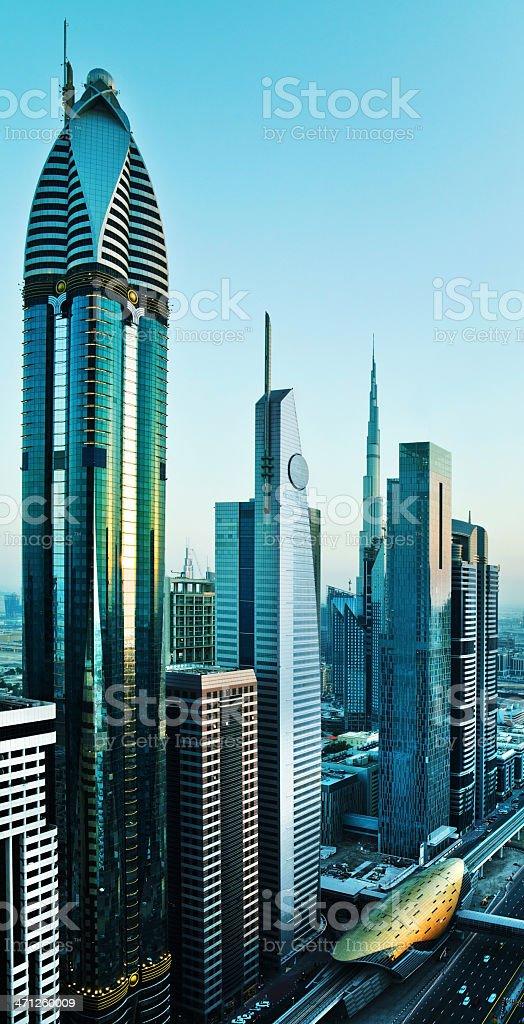 High-rise buildings in Dubai royalty-free stock photo