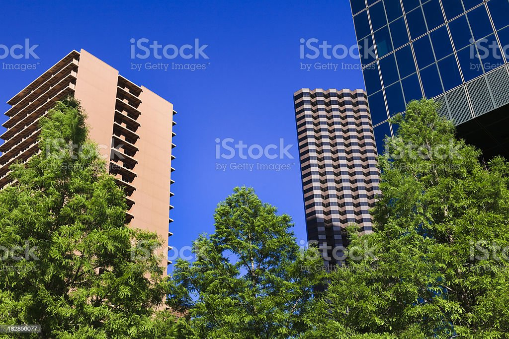high-rise cityscape royalty-free stock photo
