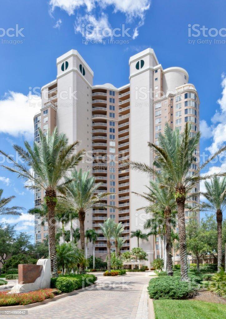 Highrise condominium in Bonita Springs Florida stock photo