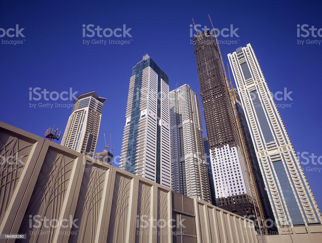 High-rise construction of office and apartment buildings royalty-free stock photo