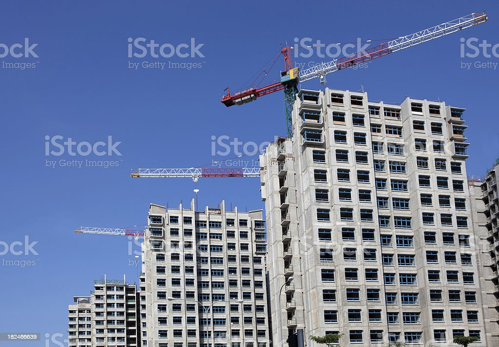 Highrise construction royalty-free stock photo