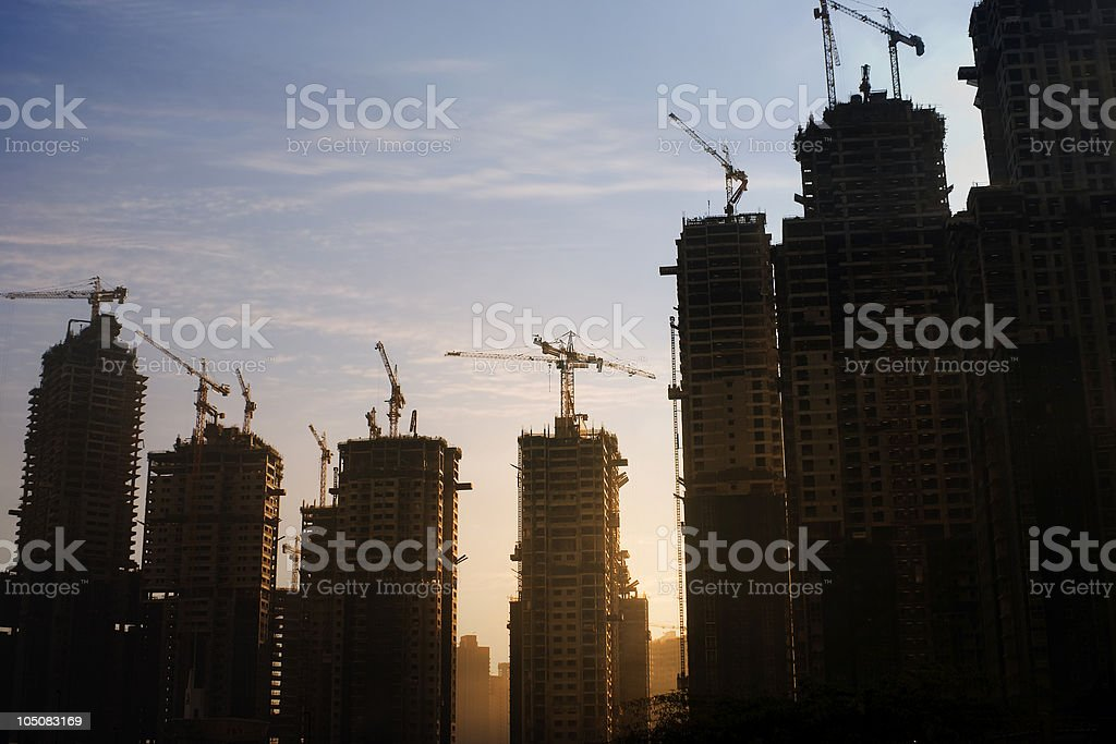 High-rise construction site royalty-free stock photo