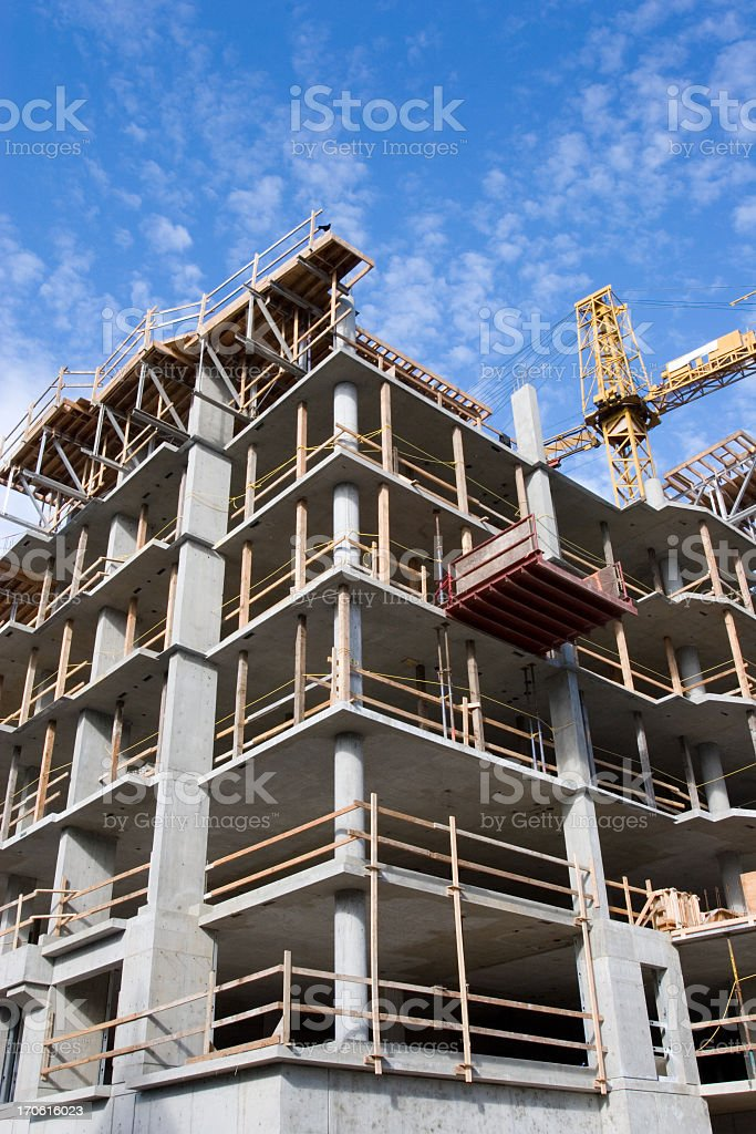 Highrise Construction Site royalty-free stock photo