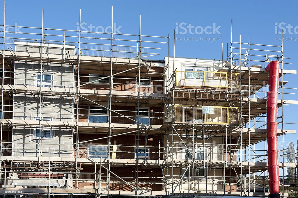 Highrise construction site stock photo