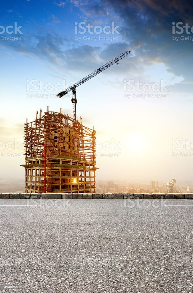 High-rise construction sites stock photo