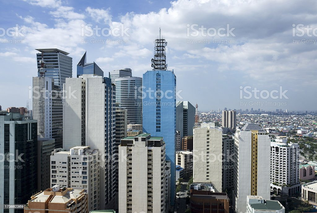Highrise district royalty-free stock photo