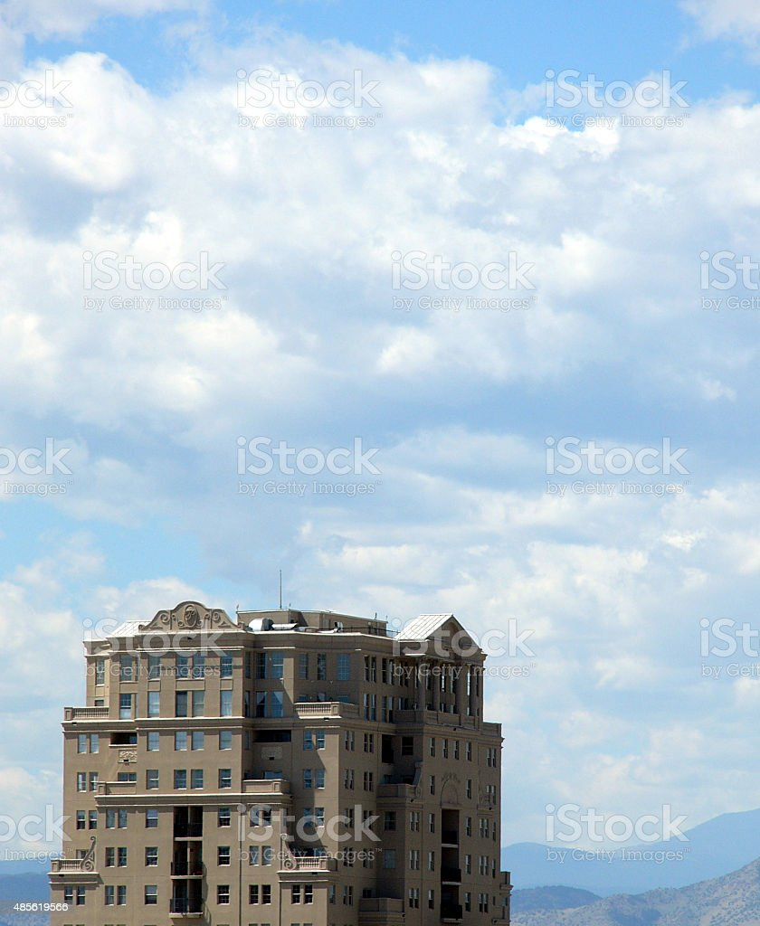 highrise is the skies stock photo