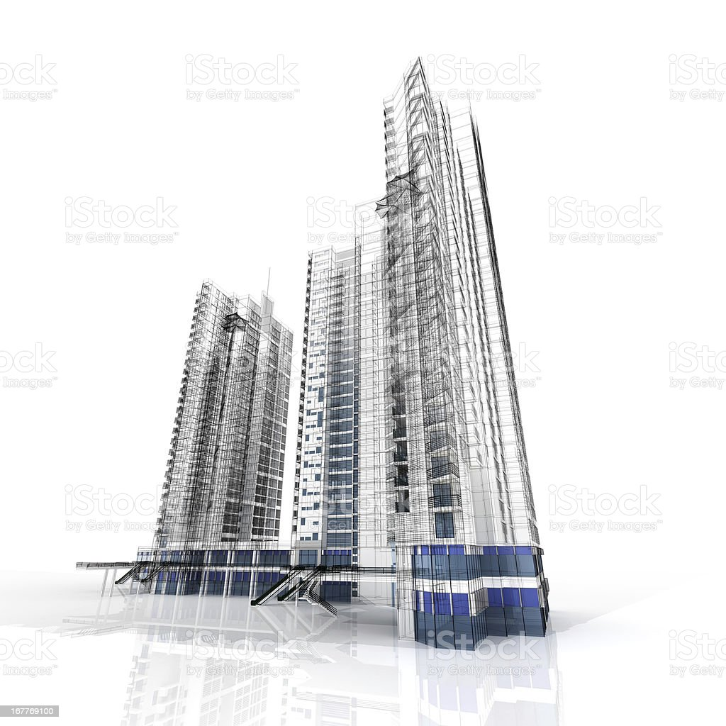 Highrise Isolated royalty-free stock photo