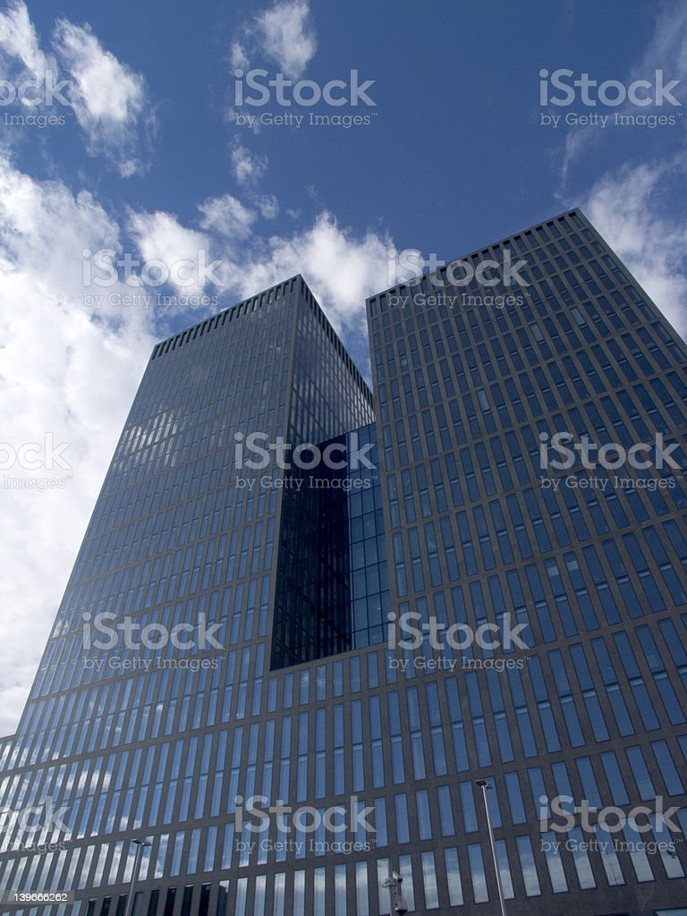 Highrise Office and Appartments Building, Skyscraper Zurich royalty-free stock photo