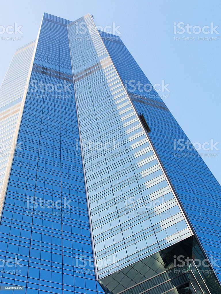 Highrise office building in downtown financial district royalty-free stock photo