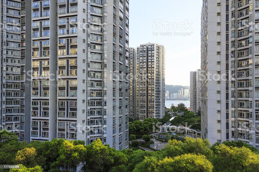High-rise residential buildings stock photo