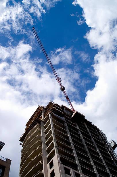 Highrise under construction stock photo