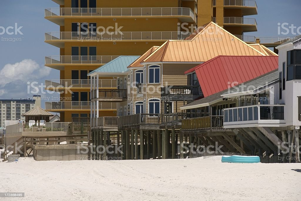Highrises and Beach Houses stock photo