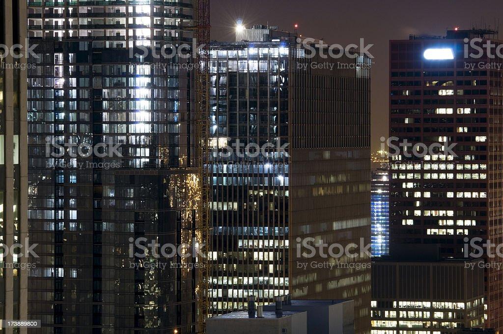 High-Rises at Night stock photo
