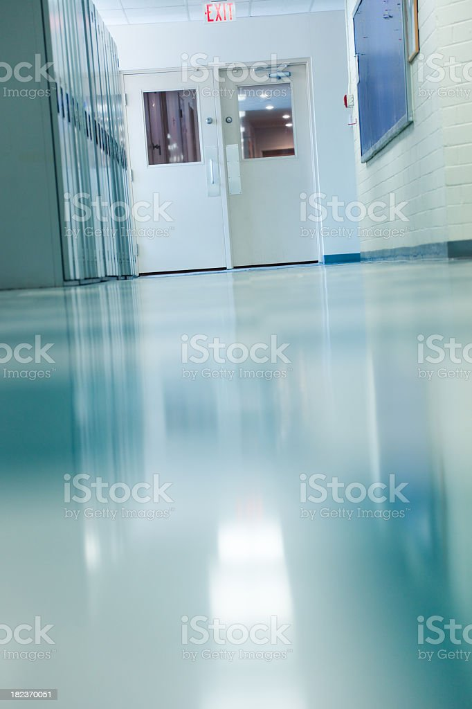 Highschool Corridor royalty-free stock photo