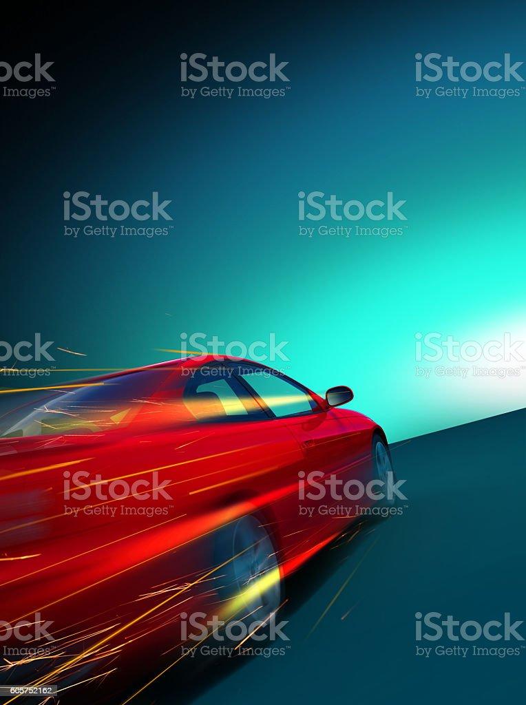 High-speed-Brennen Auto – Foto