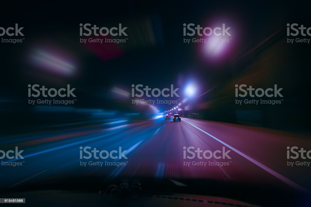 high-speed-Bewegung bei Nacht – Foto