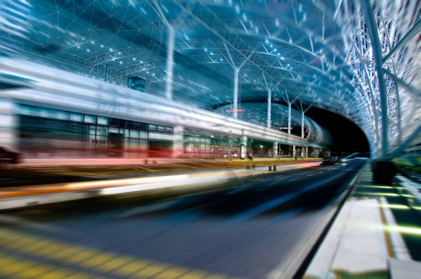 high-speed rail station high-speed rail station bullet train stock pictures, royalty-free photos & images