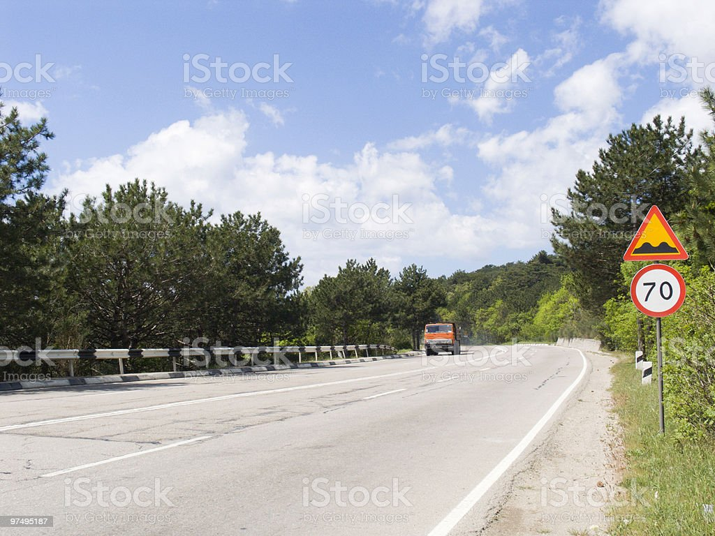 High-speed road royalty-free stock photo