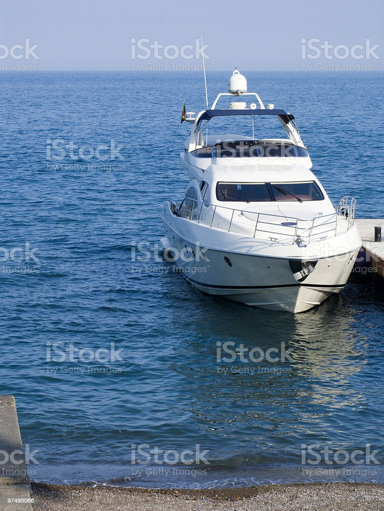 High-speed sea boat royalty-free stock photo
