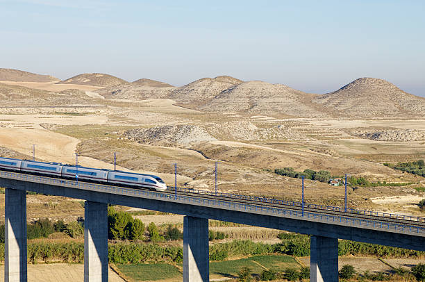 high-speed train  railway bridge stock pictures, royalty-free photos & images