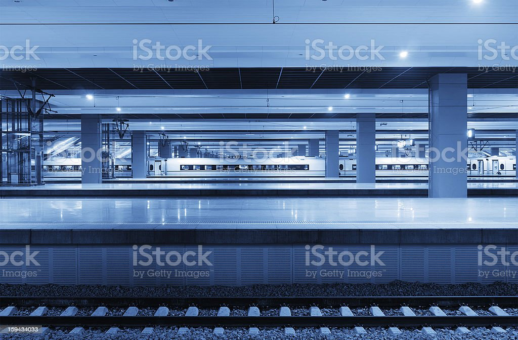 High-speed train station royalty-free stock photo