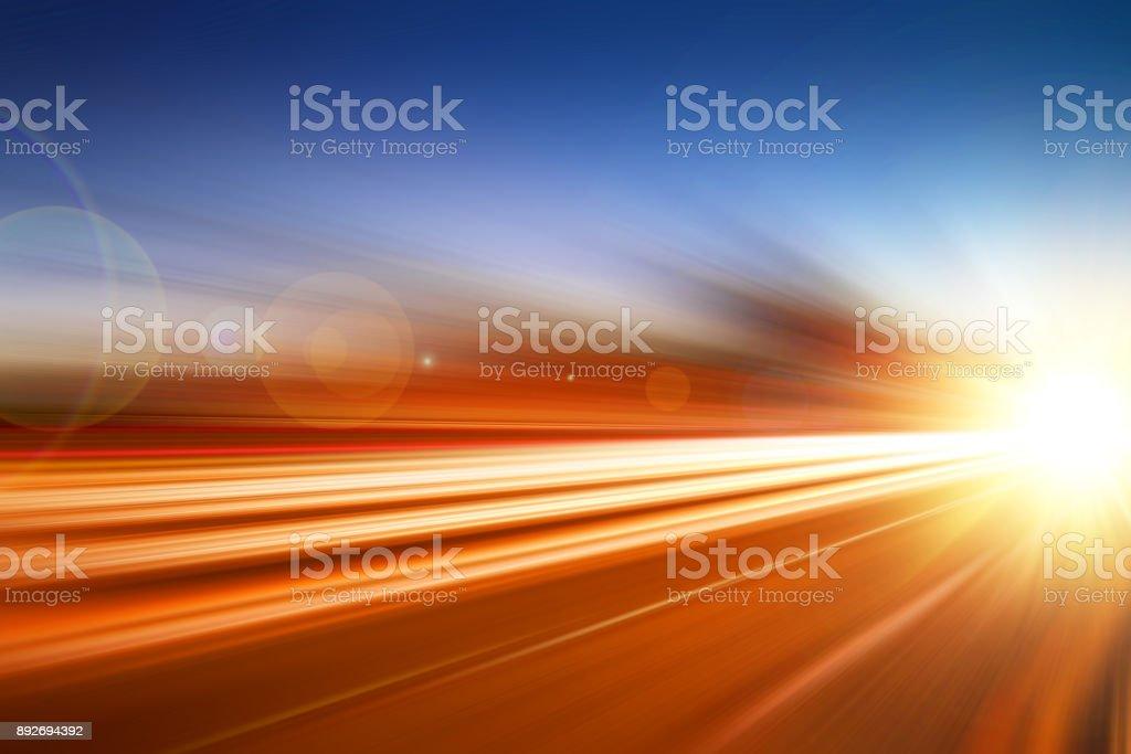 Hight beschleunigen schnell bewegten Hintergrund Geschäftskonzept durchführen – Foto