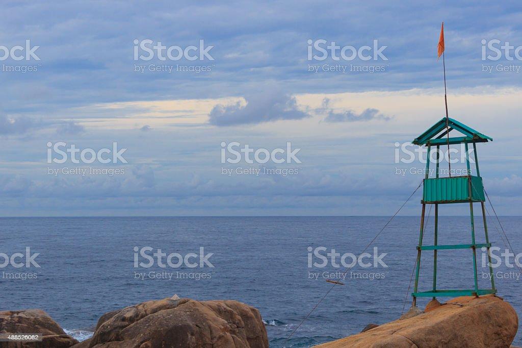 Servicio de cabina en la playa de observación tower - foto de stock