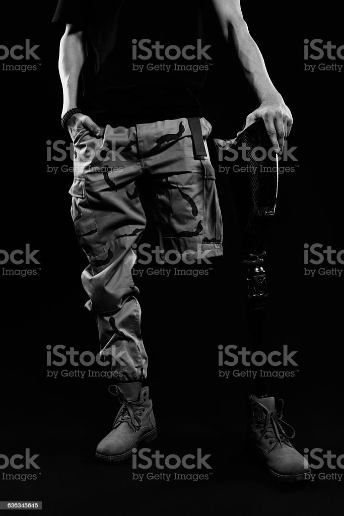 High-tech artificial limb stock photo