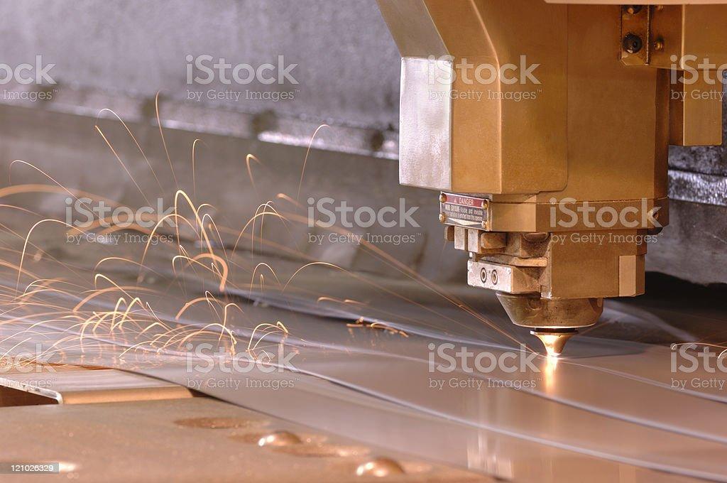 High-tech CNC laser metal cutting machine royalty-free stock photo