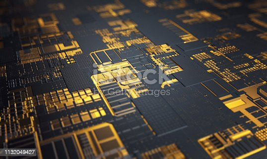 High-Tech abstract technology advanced background of a circuit board.