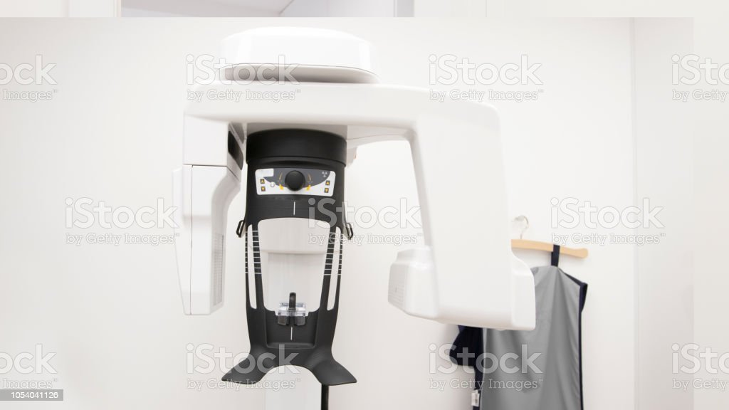 hightech digital equipment for panoramic x-ray in cabinet