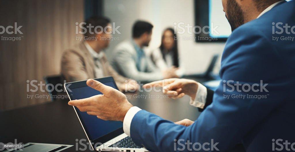 High-tech meeting. stock photo