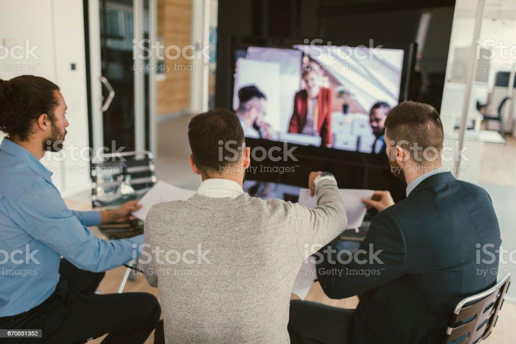 High-Tech Meeting stock photo