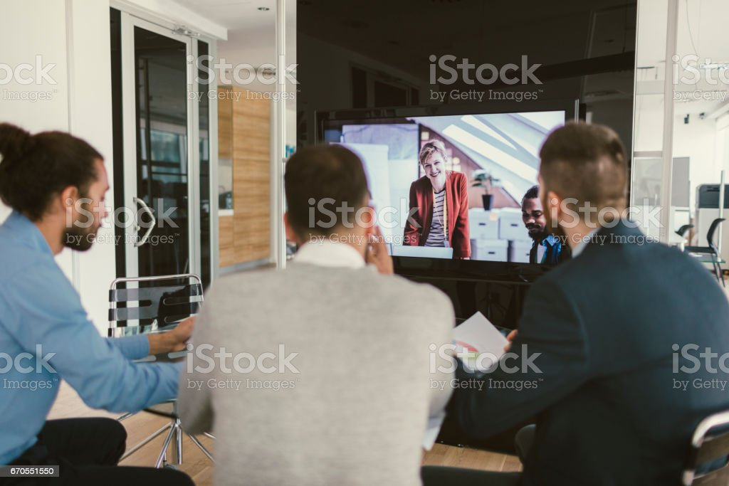 High-Tech Meeting stock photo