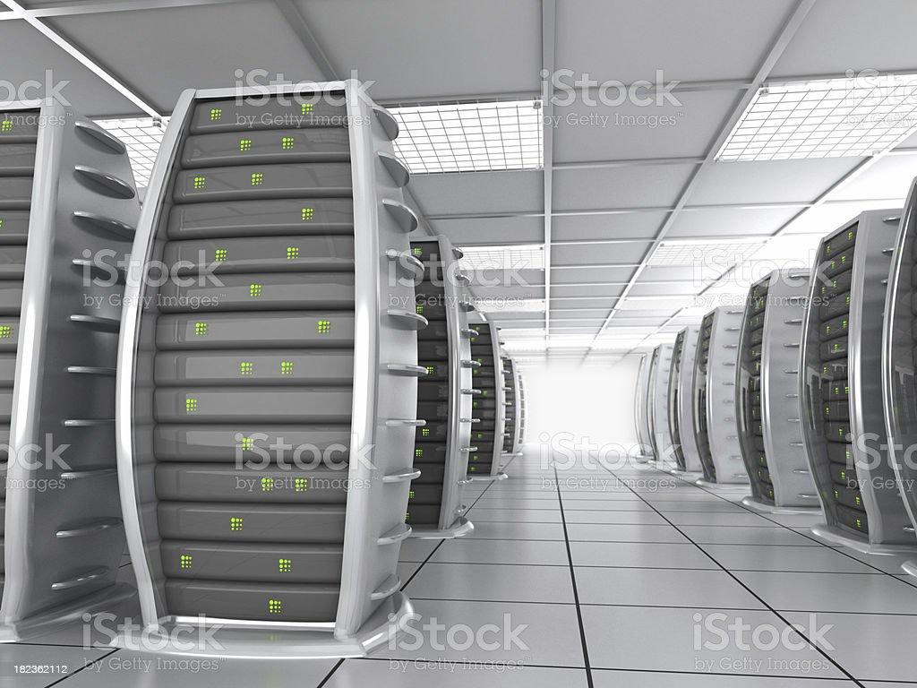 High-tech server room royalty-free stock photo