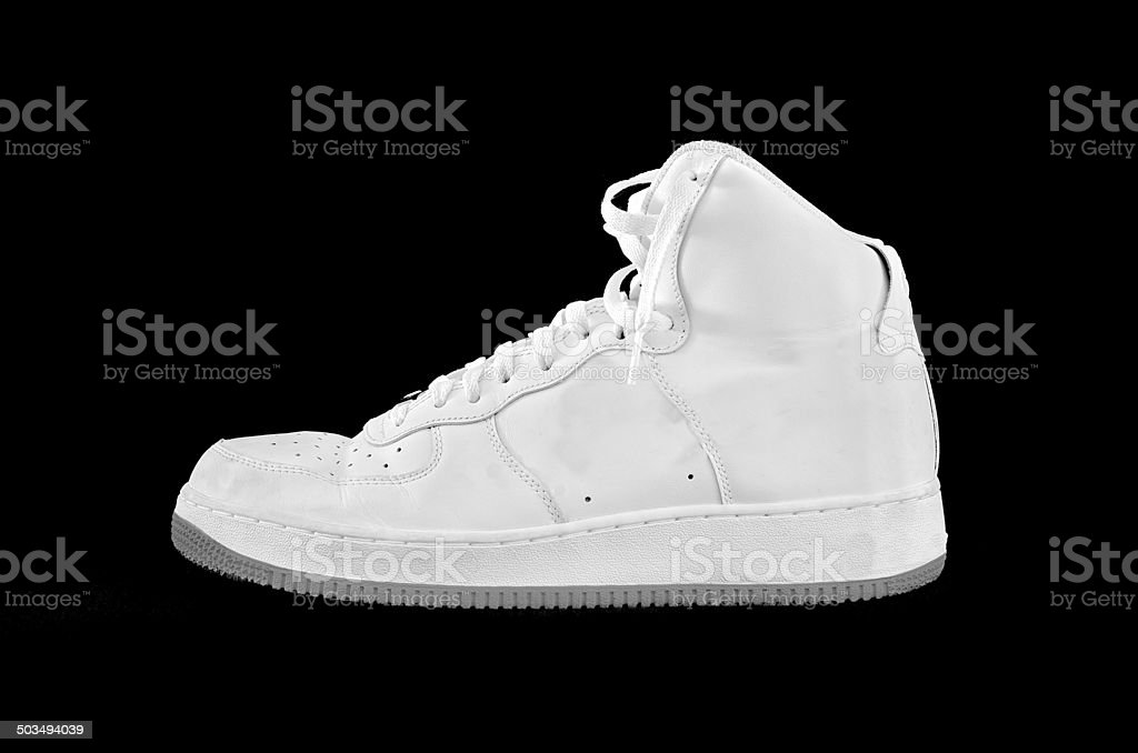High-top classic basketball shoe sneaker stock photo