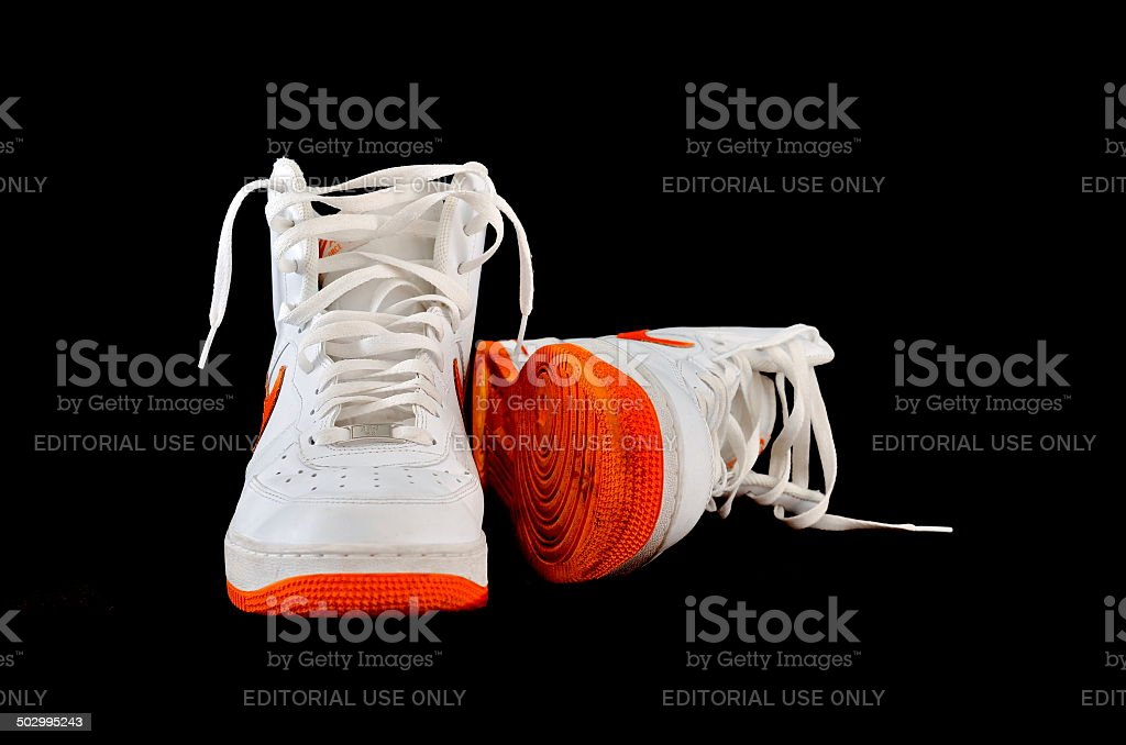 Hightop Classic Nike Af1 Basketball Shoes Sneakers Stock Photo Download Image Now Istock