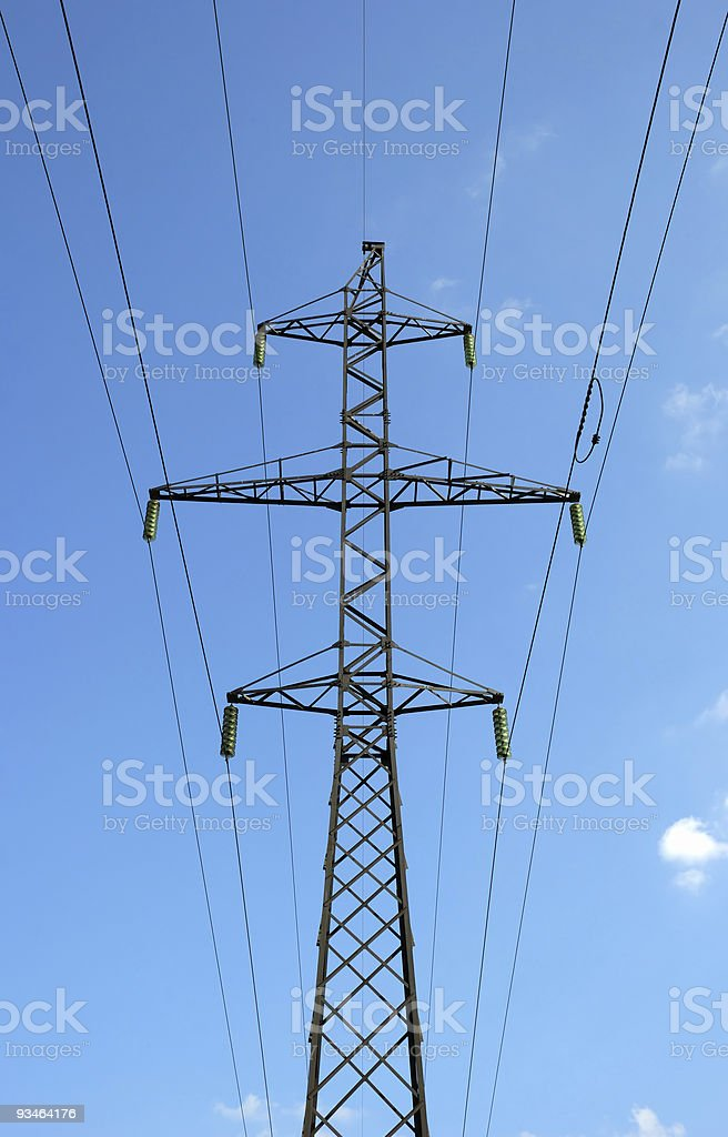 High-voltage column royalty-free stock photo