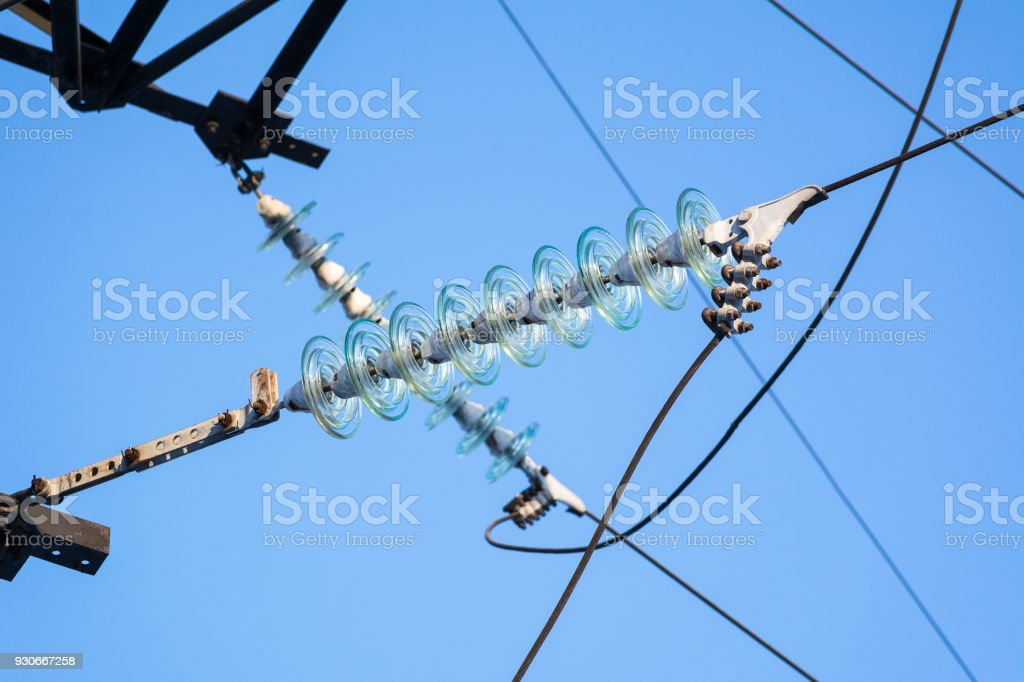 Highvoltage Electrical Insulator Stock Photo - Download