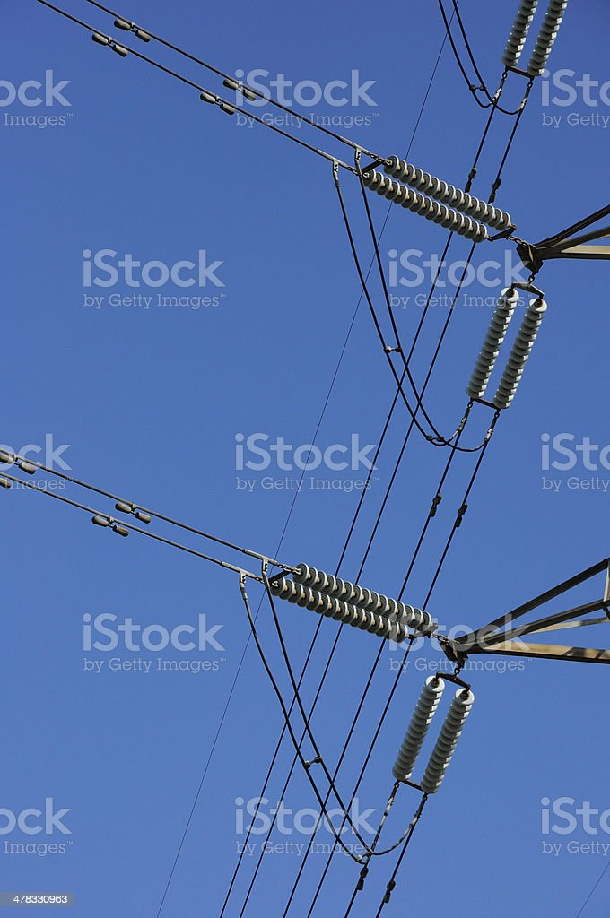 high-voltage glass isolator royalty-free stock photo