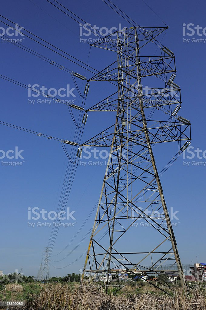 high-voltage royalty-free stock photo