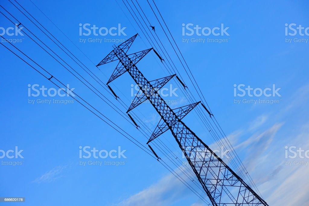 high-voltage tower photo libre de droits