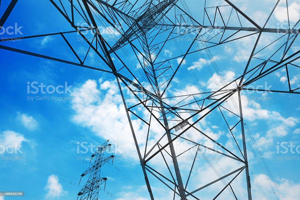 High voltage tower Himmel Hintergrund – Foto