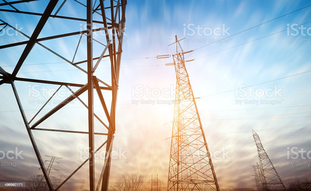 High voltage tower Himmel Hintergrund – Foto