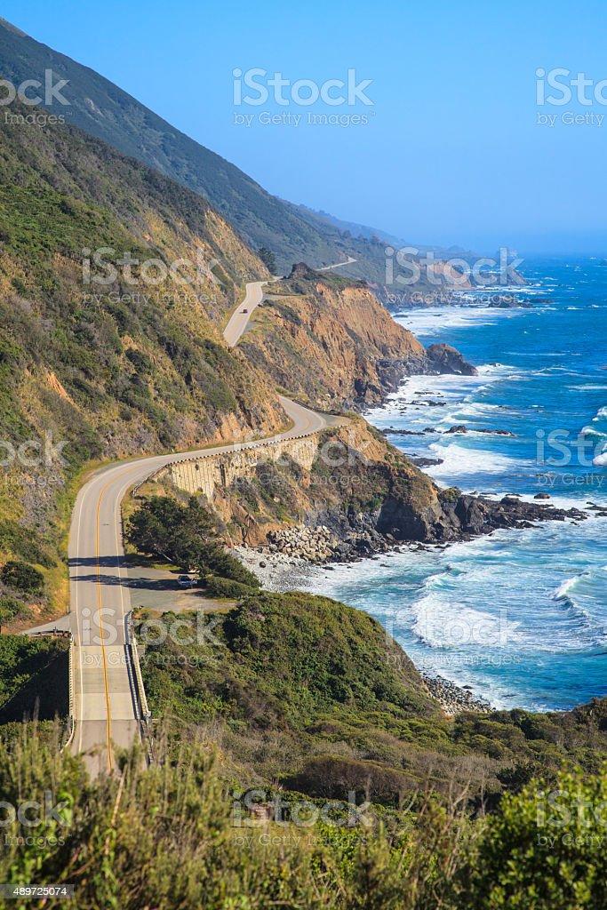 Highway 1, Big Sur, California stock photo
